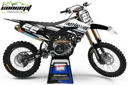SPLIT Series (Black/White) – Yamaha YZ/YZF/WR Graphics Kit