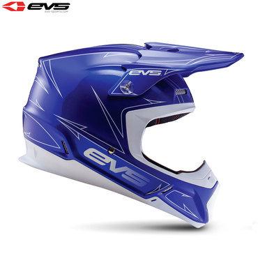 EVS T5 Pinner Adult Helmet (Blue/White)