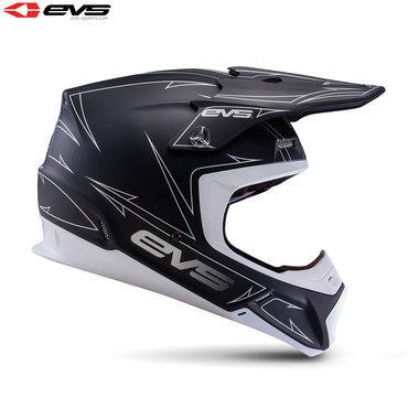 EVS T5 Pinner Adult Helmet (Matte Black/White)