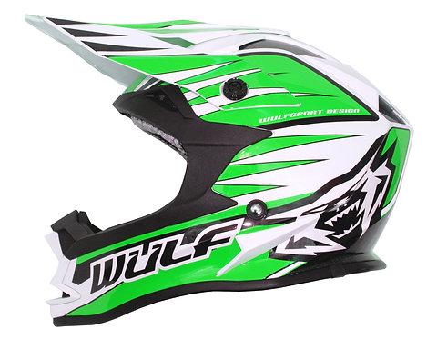 Wulfsport Kids Advance Helmets ( GREEN )