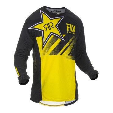Fly 2019 Kinetic Rockstar Adult Jersey (Rockstar Yellow/Black)