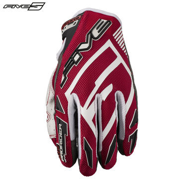 Five MXF Pro Rider S Adult Gloves Red/White