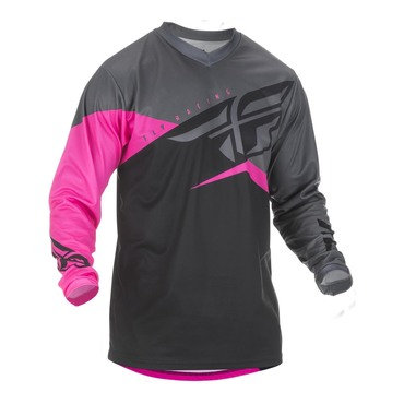 Fly 2019 F-16 Adult Jersey (Neon Pink/Black/Grey)