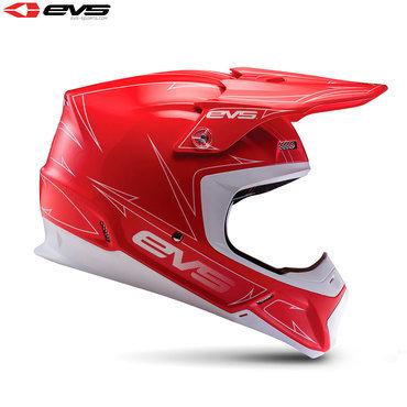EVS T5 Pinner Adult Helmet (Red/White)