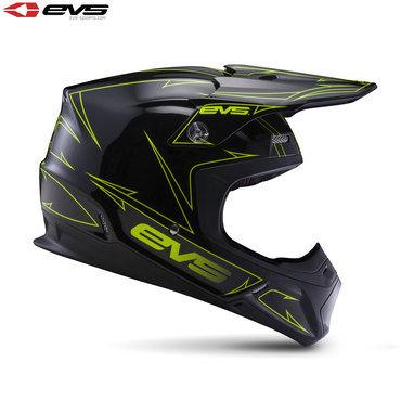 EVS T5 Pinner Adult Helmet Black/Hi-Viz Yellow