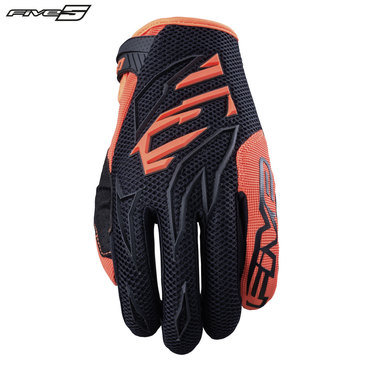 Five MXF3 Adult Gloves Black/Flo Orange
