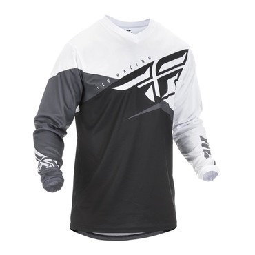 Fly 2019 F-16 Adult Jersey (Black/White/Grey)