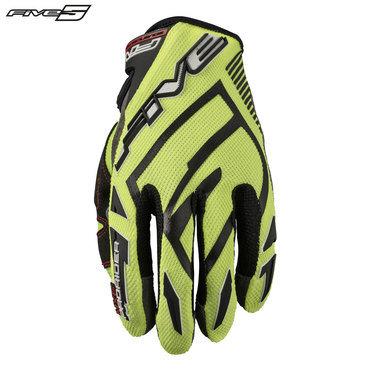 Five MXF Pro Rider S Adult Gloves Flo Yellow/Black