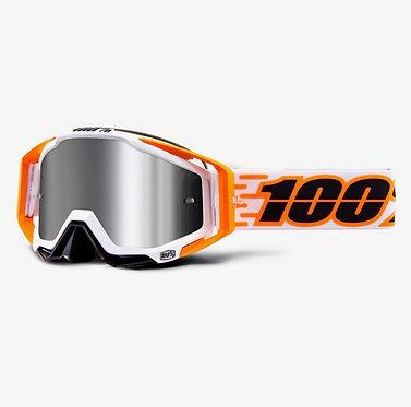 100% Racecraft + Goggles Illumina / Injected Silver Mirror Lens