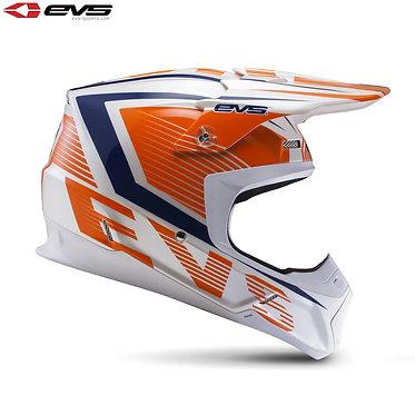 EVS T5 Vector Adult Helmet Orange/Blue