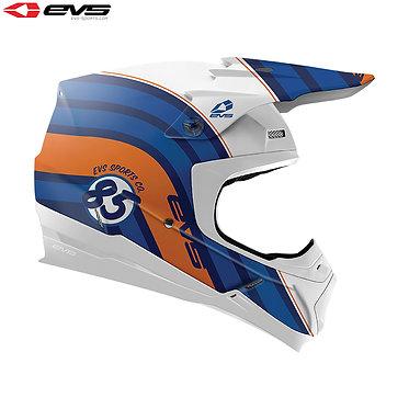 EVS T5 Cosmic Adult Helmet (Dark Blue/Orange)