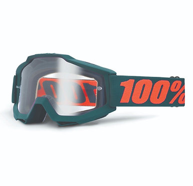 100% Accuri Goggles Gunmetal / Clear Lens