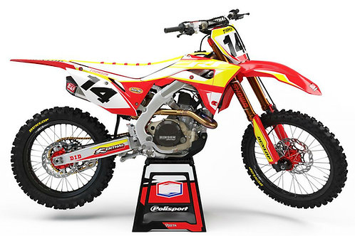 Impact Series (Red/White/Yellow) – Honda CR / CRF Graphics Kit