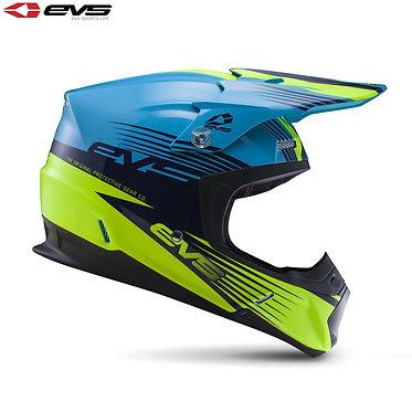 EVS T5 Works Adult Helmet Blue/Hi-Viz Yellow