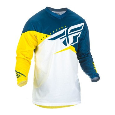 Fly 2019 F-16 Adult Jersey (Yellow/White/Navy)