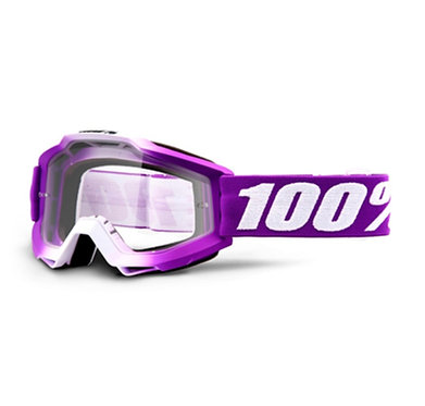 100% Accuri Goggles Framboise / Clear Lens