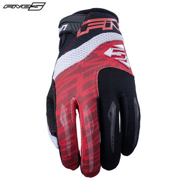 Five MXF2 Adult Gloves Red/White