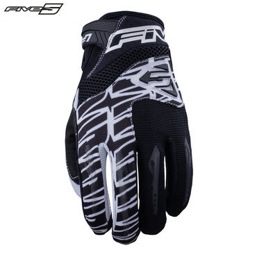 Five MXF2 Adult Gloves White/Black