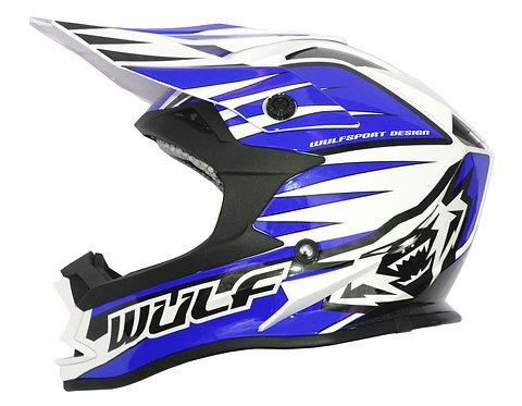 Wulfsport Kids Advance Helmets ( BLUE )