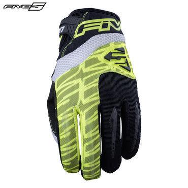 Five MXF2 Adult Gloves Flo Yellow/Black