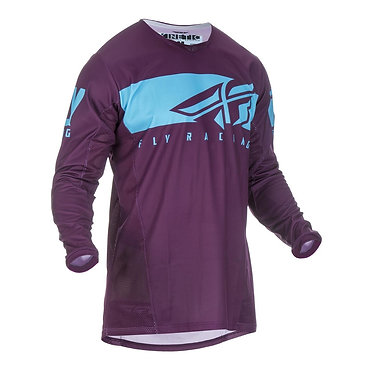 Fly 2019 Kinetic Shield Adult Jersey (Port/Blue)