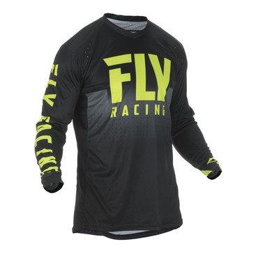 Fly 2019 Lite Hydrogen Adult Jersey (Black/Hi-Viz)