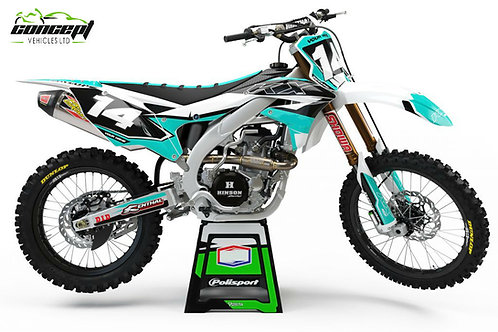 Attack Series (Teal) – Kawasaki KX/KXF Graphics Kit