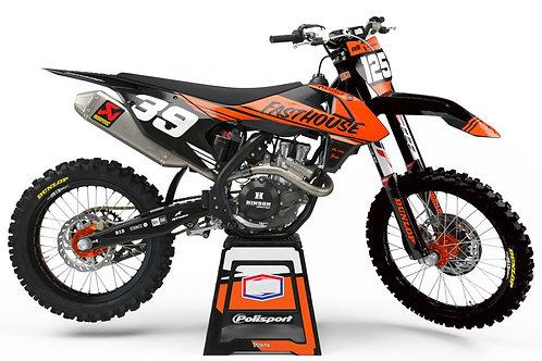 Split Series (Fluoro Orange/Black) – KTM SX/SXF/EXC/EXC-F Graphics Kit