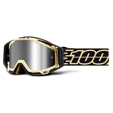 100% Racecraft + Goggles Jiva / Injected Silver Mirror Lens