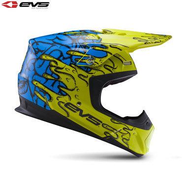 EVS T5 Ecto Adult Helmet Hi-Viz Yellow/Blue