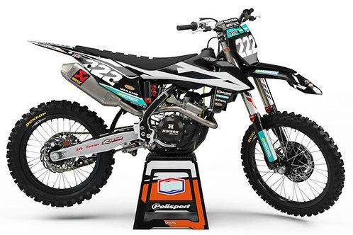 2019 Prostock (Black) SERIES – KTM SX/SXF/EXC/EXC-F Graphics Kit