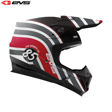 EVS T5 Cosmic Adult Helmet (Black/Red)