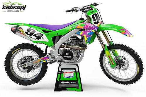 Retro – Kawasaki KX/KXF Graphics Kit