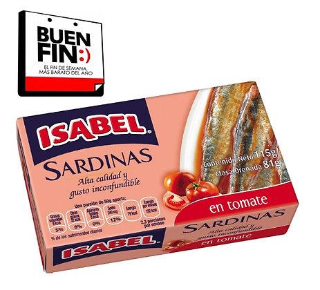 Sardinas con tomate Isabel (caja de 24 piezas de 115 g)