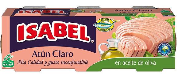 Atún claro en aceite de oliva Isabel (caja de 12 piezas de 115 g)