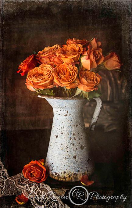 Orange Mini Roses