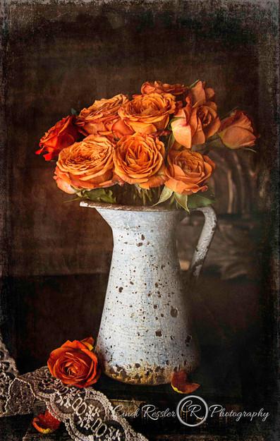Mini Orange Roses