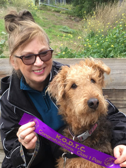 Leonie and Maggie Airedale 122