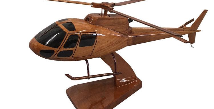 AS350 Écureuil - Wooden Model