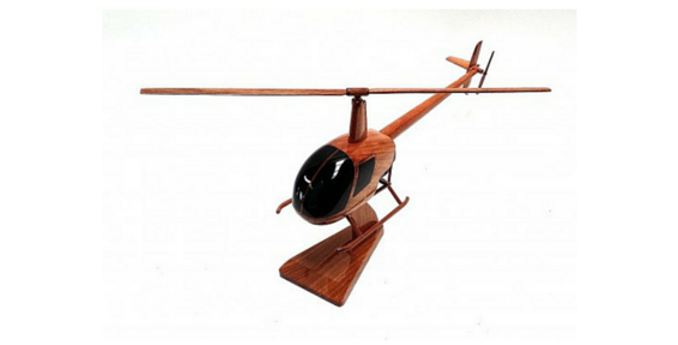 R22 Helicopter - Wooden Model