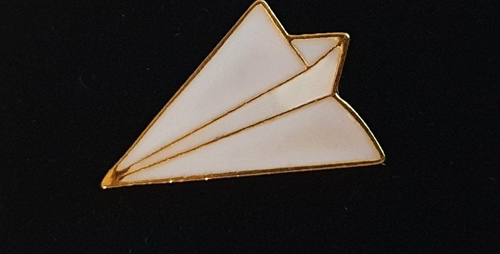 Paper Aeroplane Brooch