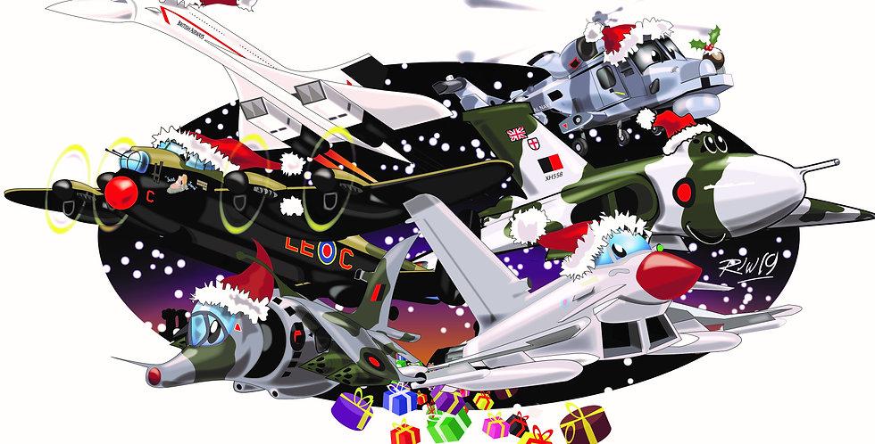 Aircaft Christmas Card