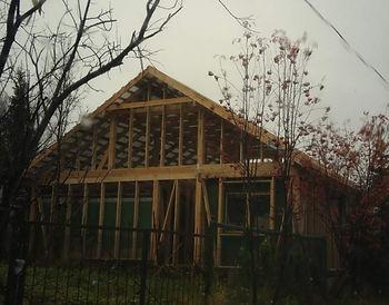 Постройка каркасного дома из бруса и доски