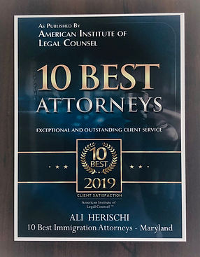 Ali Herischi the 10 best immigration attorneys in 2019