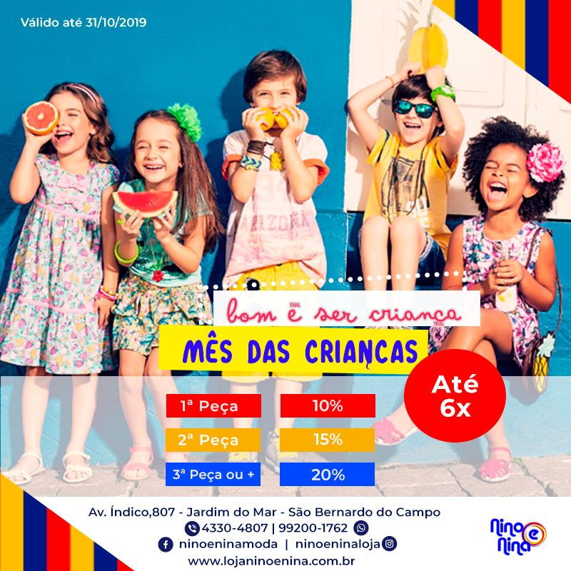 Promoção Loja Nino e Nina 2019