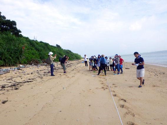 海岸漂着ゴミプログラム/調査範囲10m