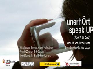 """12.09./15.09./27.10. # Neue Termine: """"unerhÖrt / speak UP"""""""