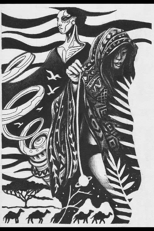 'The Wonderer' Original Drawing