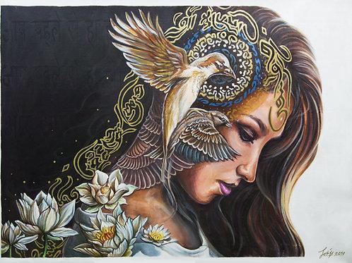 'Breathe' Original Canvas