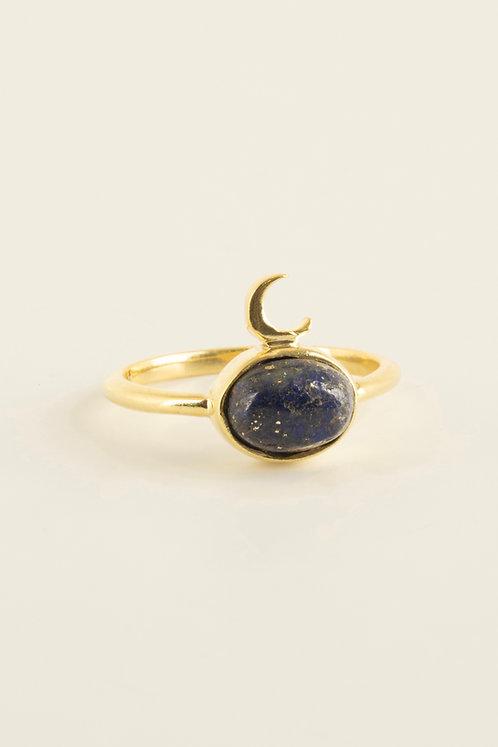 midnight ring with lapis lazuli
